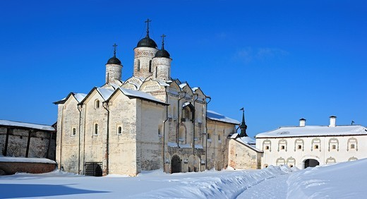 Church of the Transfiguration 1595, Kirillo-Belozersky Monastery, Kirillov, Vologda region, Russia : Stock Photo