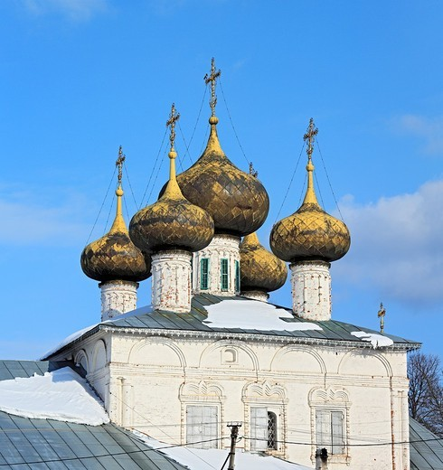 Cathedral of Nativity of Our Lady 1690, Ustyuzhna, Vologda region, Russia : Stock Photo