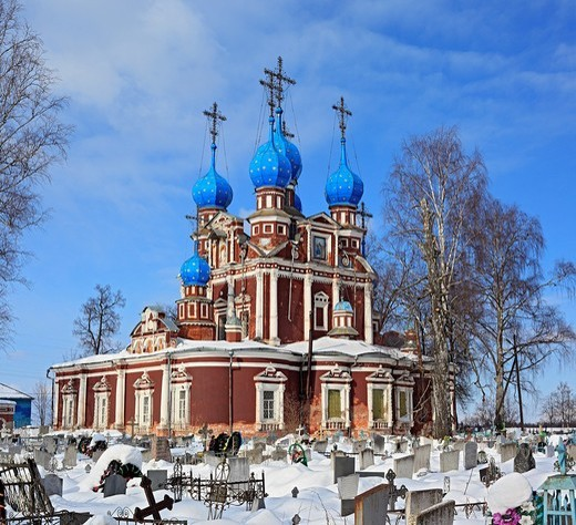 Stock Photo: 1566-574204 Church of Kazan icon of Our Lady 1694, Ustyuzhna, Vologda region, Russia