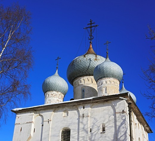 Dormition cathedral 1553, Belozersk, Vologda region, Russia : Stock Photo