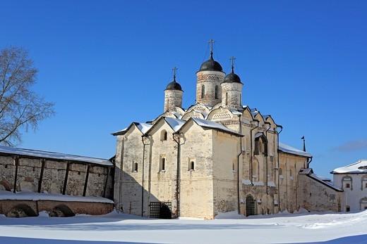 Stock Photo: 1566-574238 Church of the Transfiguration 1595, Kirillo-Belozersky Monastery, Kirillov, Vologda region, Russia