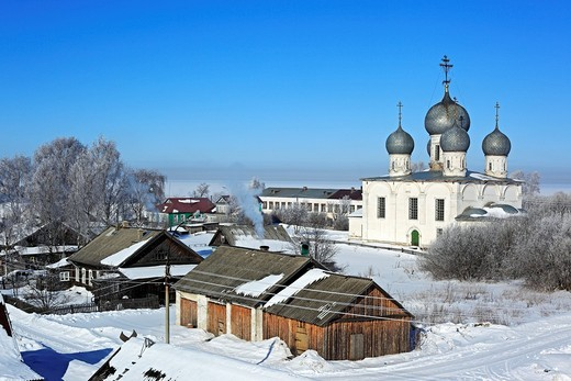 Stock Photo: 1566-574249 St  Transfiguration Cathedral 1670, Belozersk, Vologda region, Russia