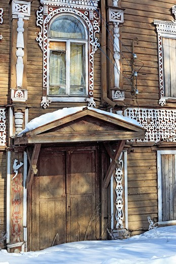 Old wooden house, Belozersk, Vologda region, Russia : Stock Photo
