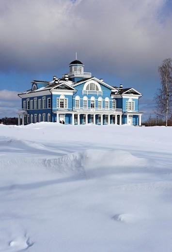 Stock Photo: 1566-574255 Estate house 1800s, Gorka Galskikh, Cherepovets, Vologda region, Russia