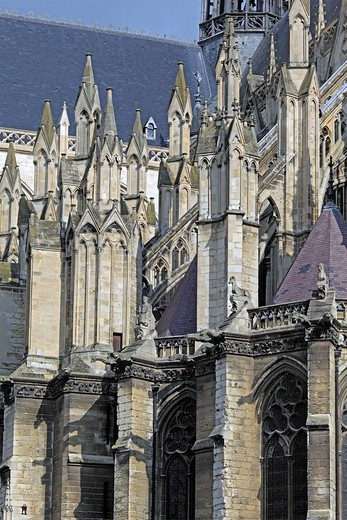 Stock Photo: 1566-574790 Cathedral of Our Lady of Amiens, UNESCO World Heritage Site, Amiens, Somme department, Picardy, France