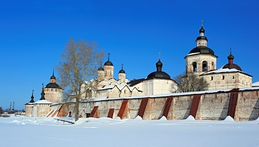 Stock Photo: 1566-574847 Towers of Kirillo-Belozersky Monastery, Kirillov, Vologda region, Russia