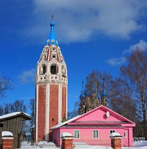 Stock Photo: 1566-574862 Church of Kazan icon of Our Lady 1694, Ustyuzhna, Vologda region, Russia