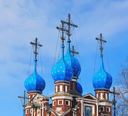 Stock Photo: 1566-574864 Church of Kazan icon of Our Lady 1694, Ustyuzhna, Vologda region, Russia