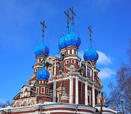 Church of Kazan icon of Our Lady 1694, Ustyuzhna, Vologda region, Russia : Stock Photo