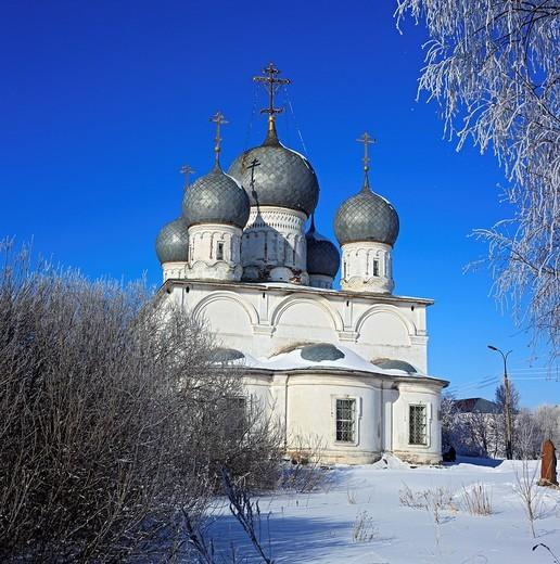 Stock Photo: 1566-574870 St  Transfiguration Cathedral 1670, Belozersk, Vologda region, Russia