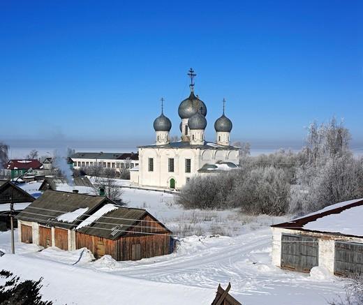 Stock Photo: 1566-574873 St  Transfiguration Cathedral 1670, Belozersk, Vologda region, Russia
