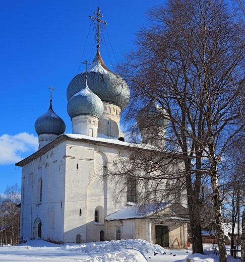 Dormition cathedral 1553, Belozersk, Vologda region, Russia : Stock Photo