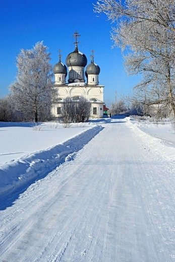 Stock Photo: 1566-574908 St  Transfiguration Cathedral 1670, Belozersk, Vologda region, Russia