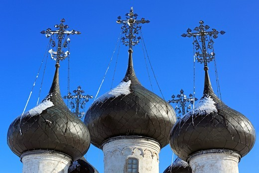 Stock Photo: 1566-574915 Church of the Saviour 1723, Belozersk, Vologda region, Russia