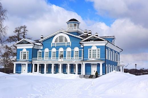 Estate house 1800s, Gorka Galskikh, Cherepovets, Vologda region, Russia : Stock Photo