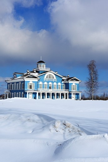 Estate house 1800s, Gorka Galskikh, Cherepovets, Vologda region, Russia : Stock Photo