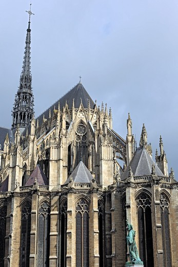 Stock Photo: 1566-575113 Cathedral of Our Lady of Amiens, UNESCO World Heritage Site, Amiens, Somme department, Picardy, France