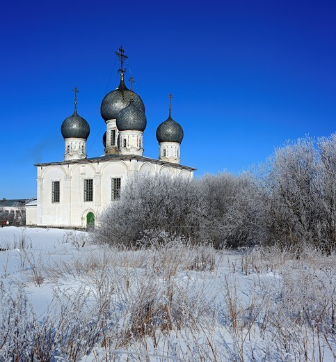 Stock Photo: 1566-575115 St  Transfiguration Cathedral 1670, Belozersk, Vologda region, Russia