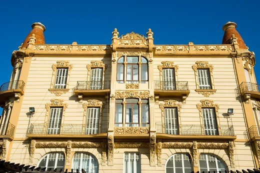 Modernist style building at Menendez Pelayo square  Melilla Spain : Stock Photo
