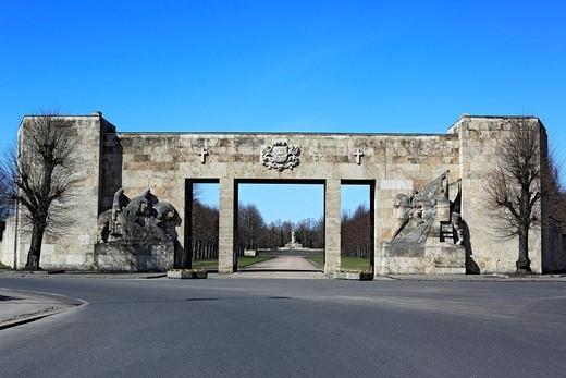 Brothers´ Brethren memorial cemetery, Riga, Latvia : Stock Photo