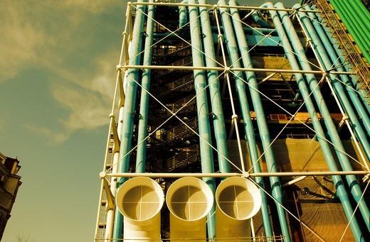 Centre Georges Pompidou  Paris  France : Stock Photo