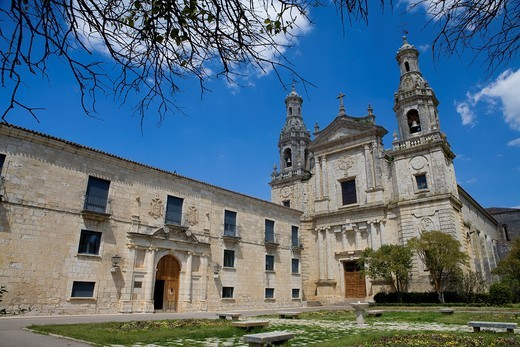 Cistercian monastery of Santa María de la Santa Espina, built between XII Century and XVI Century, in Castromonte, Valladolid province : Stock Photo