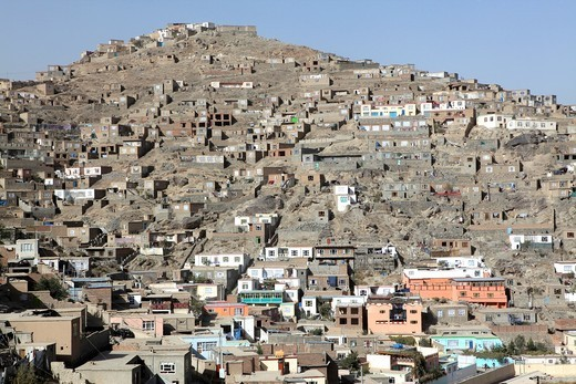 Stock Photo: 1566-577649 view on kabul, Afganistan