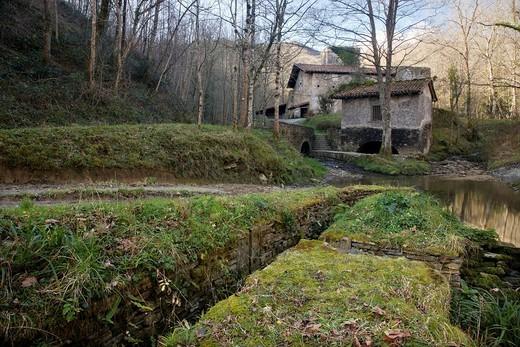 Foundry of Agorregi, Pagoeta Natural Park, Aya Aia, Guipuzcoa Gipuzkoa Basque Country Euskadi, España Spain : Stock Photo