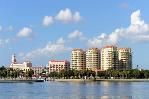 Stock Photo: 1566-579979 Bayfront senior retirement condominium highrise St  Petersburg Florida