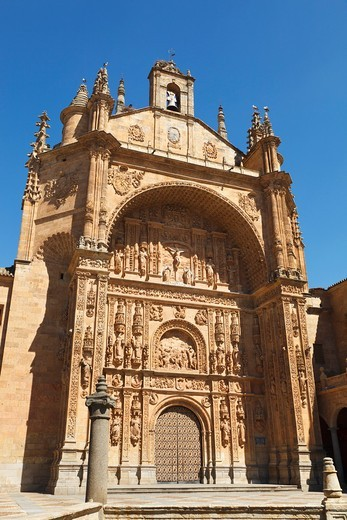 Stock Photo: 1566-580807 Salamanca, Salamanca Province, Spain  The 16th century Dominican Convent of Saint Stephen with its Plateresque arch  Convento de San Esteban
