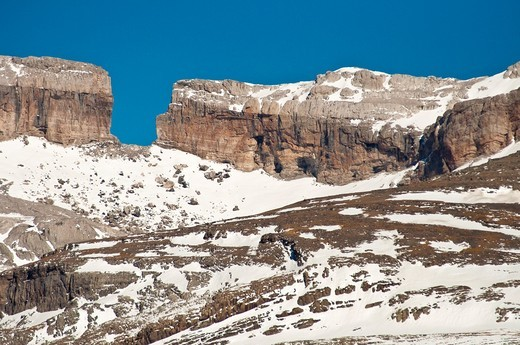 Famous Roldan Gap submmit  Ordesa y Monte Perdido National Park  Huesca  Aragon  Spain : Stock Photo