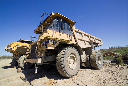 Stock Photo: 1566-581307 Trucks in Talvivaara mine, Sotkamo Finland