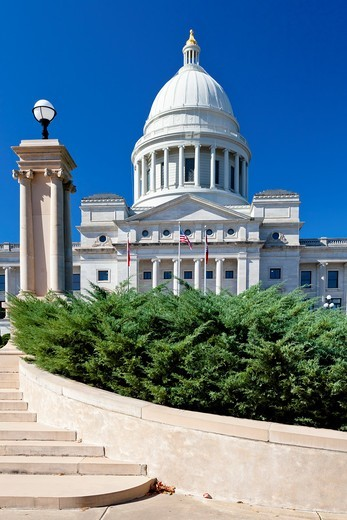 Stock Photo: 1566-581887 The Arkansas State Capitol building in Little Rock, Arkansas, USA