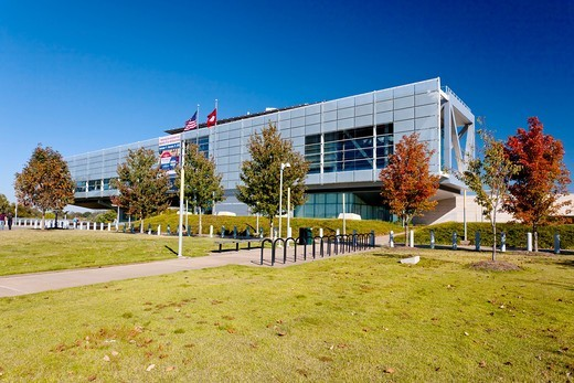 The William J Clinton presidential library in Little Rock, Arkansas, USA : Stock Photo