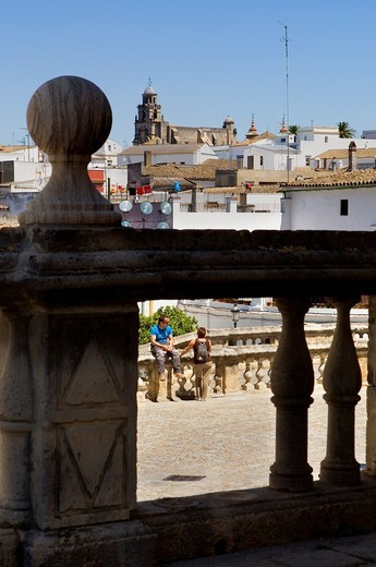 view from the cathedral´s stairs  Jerez de la Frontera  Cádiz province  Spain : Stock Photo