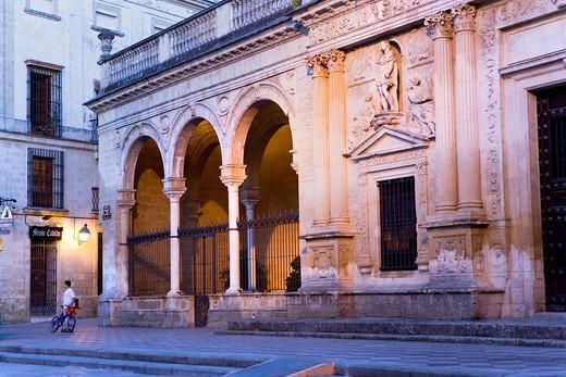 Stock Photo: 1566-582078 Antiguo Cabildo Old town hall in Plaza de la Asunción  Jerez de la Frontera  Cádiz province  Spain