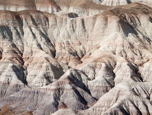 USA - Badland hills of bluish bentonite clay at Blue Mesa  Petrified Forest National Park, Arizona, USA : Stock Photo