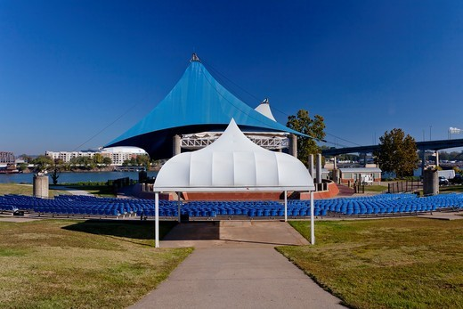 Stock Photo: 1566-582301 The outdoor ampitheater in Riverfront Park in downtown Little rock, Arkansas, USA