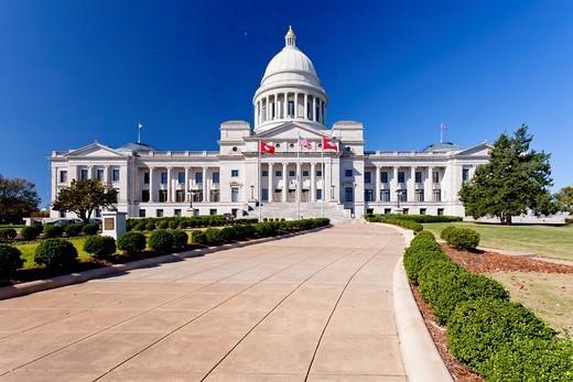 Stock Photo: 1566-582324 The Arkansas State Capitol building in Little Rock, Arkansas, USA