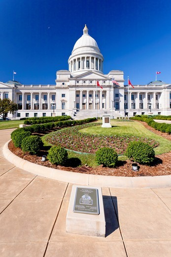 The Arkansas State Capitol building in Little Rock, Arkansas, USA : Stock Photo