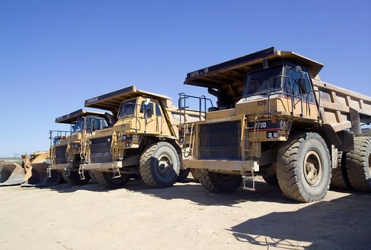 Trucks in Talvivaara mine, Sotkamo Finland : Stock Photo