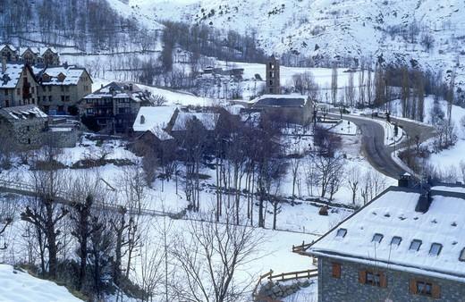 Taüll  Boí valley Lleida province  Catalonia  Spain : Stock Photo