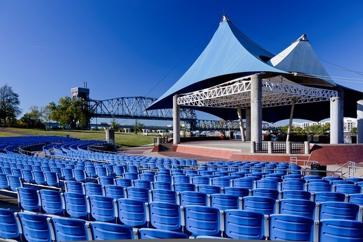 Stock Photo: 1566-583581 The outdoor ampitheater in Riverfront Park in downtown Little Rock, Arkansas, USA