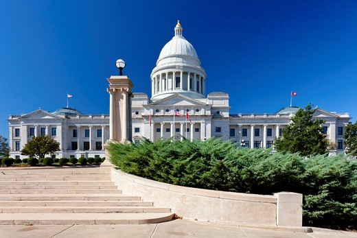 Stock Photo: 1566-583595 The Arkansas State Capitol building in Little Rock, Arkansas, USA