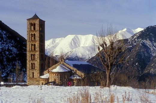 Stock Photo: 1566-583801 Church of Sant Climent Romanesque church  Taüll  Boí valley Lleida province  Catalonia  Spain