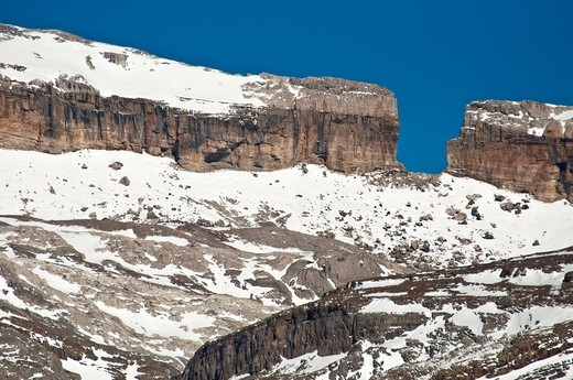 Stock Photo: 1566-583825 Famous Roldan Gap submmit  Ordesa y Monte Perdido National Park  Huesca  Aragon  Spain