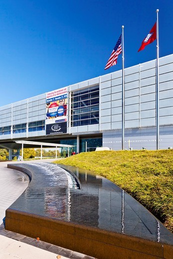 Stock Photo: 1566-584008 The William J Clinton presidential library in Little Rock, Arkansas, USA