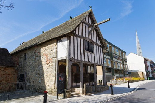 The Medieval Merchants House, French Street, Old Town, Southampton, Hampshire, England, UK : Stock Photo