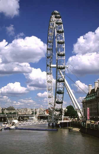 Stock Photo: 1566-584315 London Eye South Bank