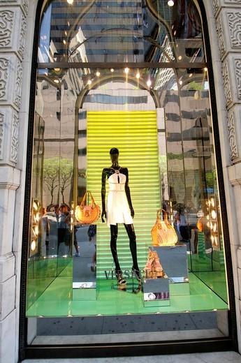 Versace Store in Manhattan, New York City, New York State, USA : Stock Photo